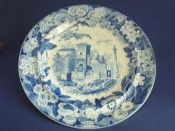 Rare Don Pottery 'Named Italian Views - View in Palma' Pearlware Dinner Plate c1820